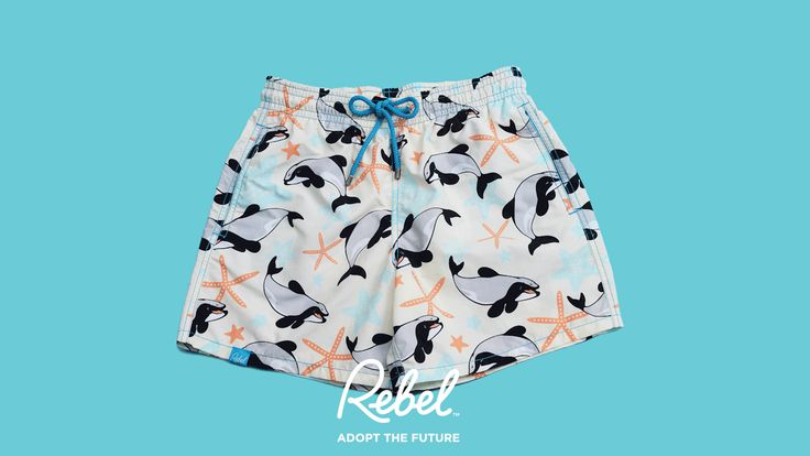 It's cocktail o'clock! Get with it! Get a pair of Rebel Swim beach shorts and help protect the critically endangered Maui dolphin - $30 from each pair goes towards the conservation of the world's rarest and smallest dolphin!  www.rebelswim.com