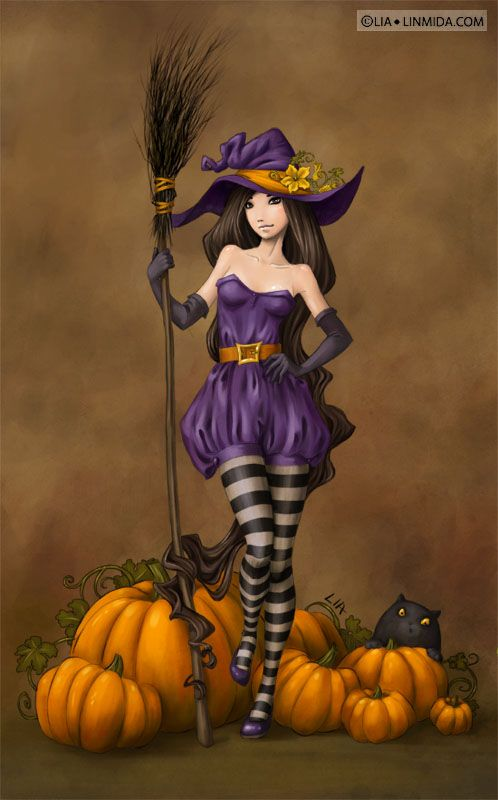 Witch Kimberly by ~LiaSelina on deviantART ~ Halloween