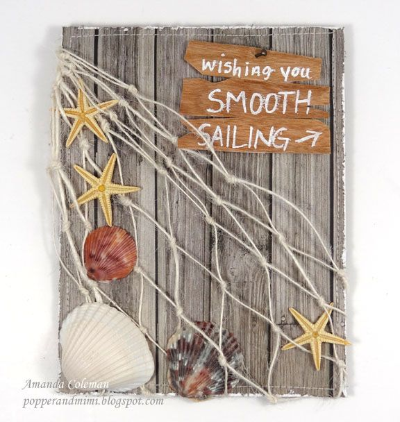 Rustic Nautical Beach Card by Amanda Coleman (Published in July/Aug 2013 Paper Crafts)