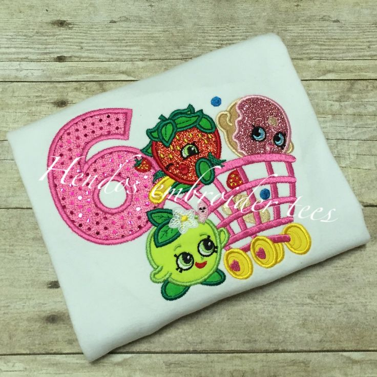 Shopkins basket-embroidered-shirt by HendosEmbroiderTees on Etsy https://www.etsy.com/listing/267704692/shopkins-basket-embroidered-shirt
