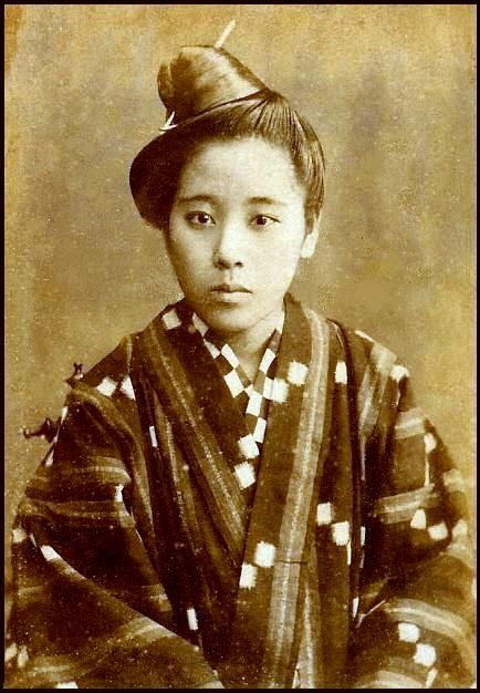 19th century portrait of an okinawan girl | Vintage Japan ...