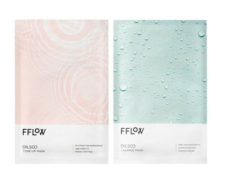 Fflow Oilsoo Moisture Face Mask Pack 30g Tone Up N Calming