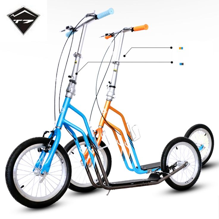 166.23$  Watch here - http://alihs8.worldwells.pw/go.php?t=32627534231 - T7 16 Inch Rubber Tyre Adults City Scooter Safe Hand Brake