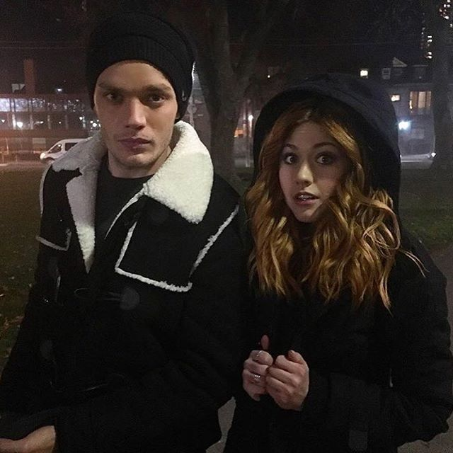 """2,358 Likes, 10 Comments - Shadowhunters Updates (@nephilimupdates) on Instagram: """"Dom and Kat in cold cold Toronto!  #Shadowhunters #2B #Bts #Clace  Via @ShadowhuntersTV …"""""""