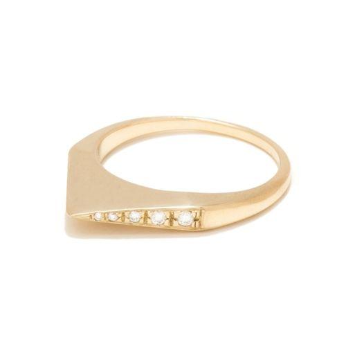 DIAMOND STIRRUP RING by Tilda Biehn