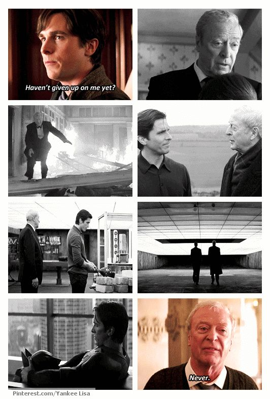 "<3 Bruce and Alfred, from ""Batman Begins"". I love this line."