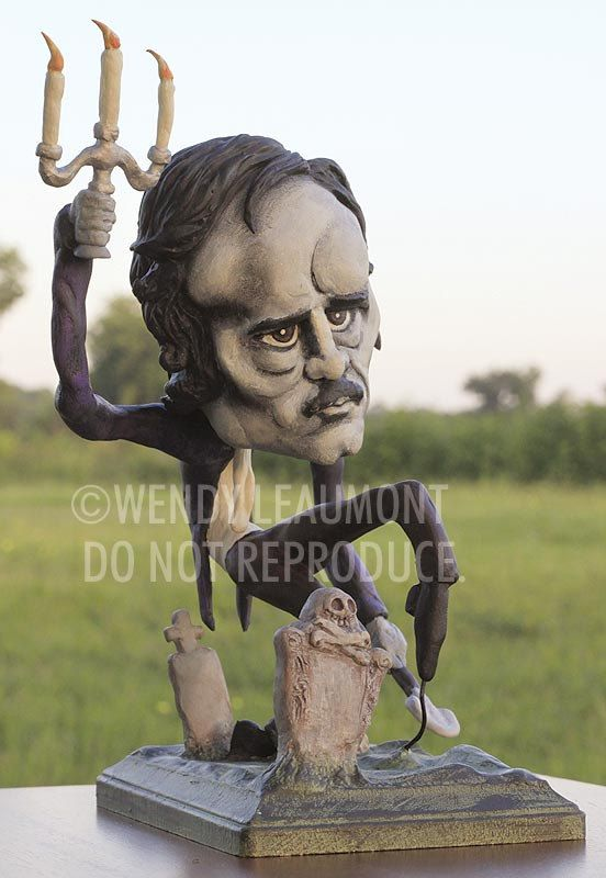 Ghost of Poe  Original sculpted Art Doll by mybrainchild on Etsy, $425.00
