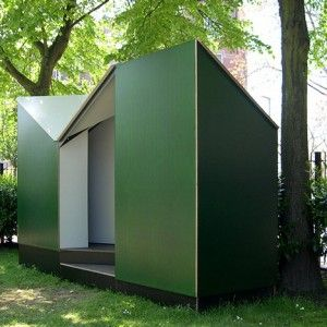 Temporary public toilet for Singeldingen Foundation  by Lagado Architects
