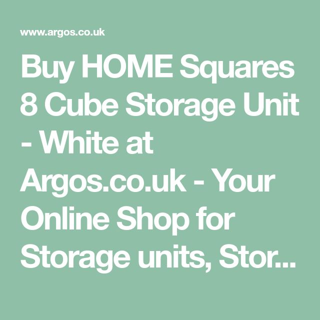 Buy HOME Squares 8 Cube Storage Unit - White at Argos.co.uk - Your Online Shop for Storage units, Storage, Home and garden.