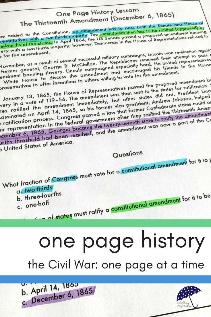 This Quick One Page Reading Passage With Multiple Choice Questions Is A Perfect Over Civil War Reading Passages Reading Comprehension Practice Reading Passages