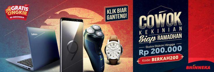Promo Ganteng, Cowok Kekinian Siap Ramadhan dengan Berkah Bhinneka - PriceArea.com