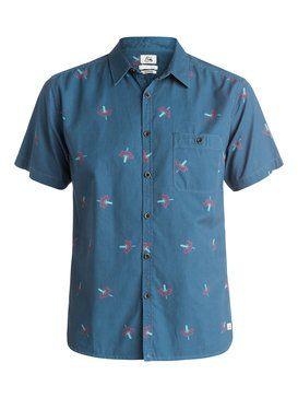 quiksilver, Daggering Twill  Shirt, DAGGERING DENIM (brq6)