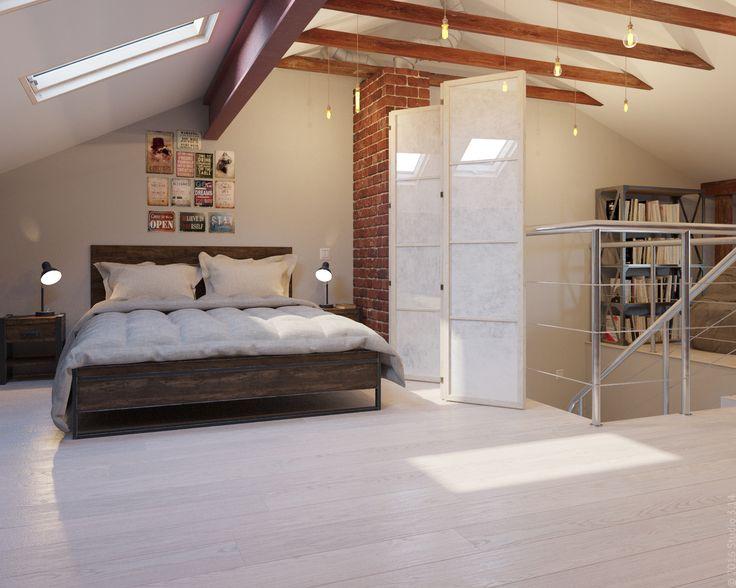 За ширмой расположена кровать, предназначенная для гостей дома.