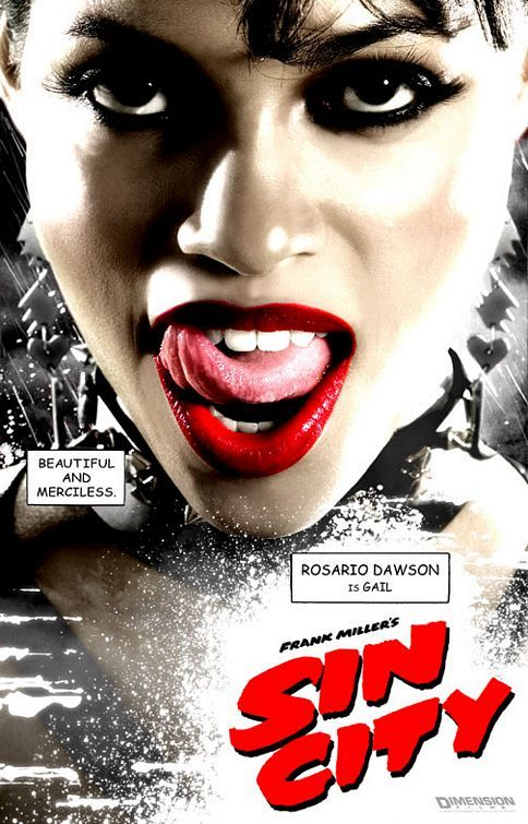 """""""Sin City"""" Character Poster #2 - Rosario Dawson is Gail"""