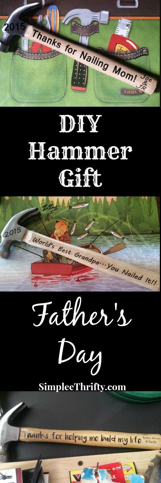 DIY Hammer Gift Father's Day Idea.  There is nothing more special than a handmade gift for your loved one. We have made You Nailed It DIY Hammer Gift for Father's Day DIY Gift to give to Dad and Grandpa.