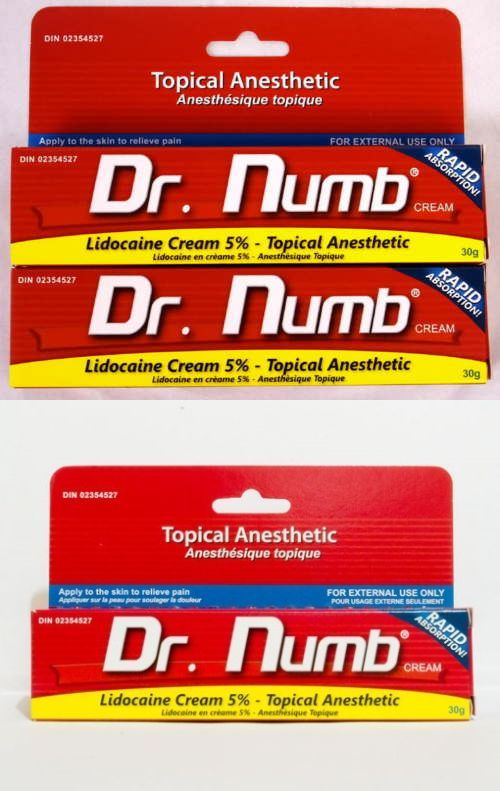 Tattoo Supplies: 2X Dr Numb 5% Lidocaine Cream 30 Gr Skin Numbing Tattoo/Removal Waxing Piercing BUY IT NOW ONLY: $60.0