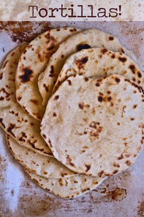 Home made flour tortillas