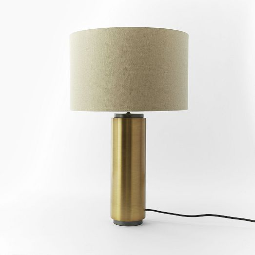 Antique brass pillar table lamp from west elm