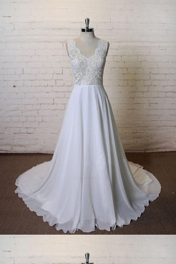 Hot Sale Fetching Unique Wedding Dress, Cheap Wedding Dress, Wedding Dress A-Line, Simple Wedding Dress