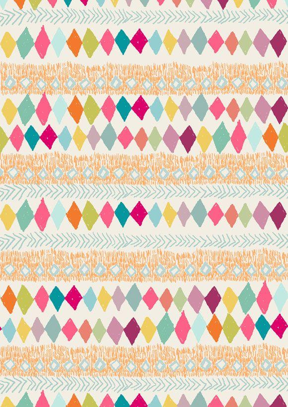 Indian Pattern Colourful Rhombu