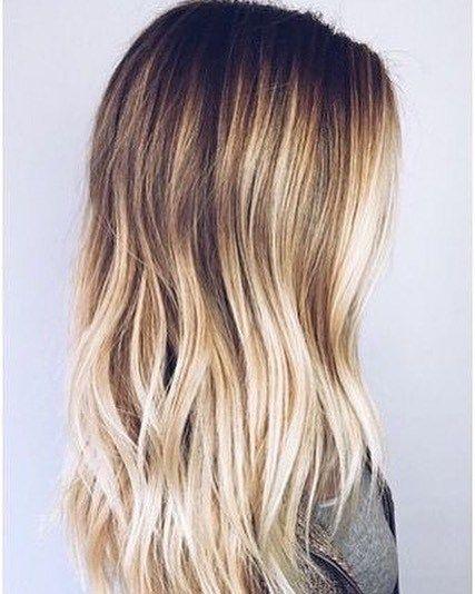 Blonde ombré hair color #haircolor