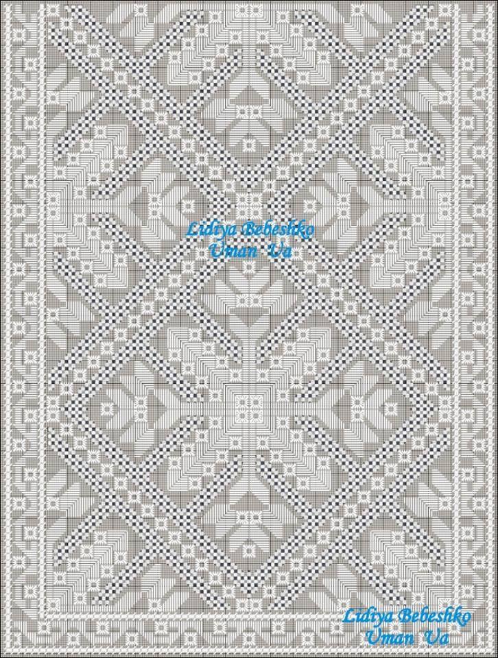 11.1. Схема частини композиції вишивки на манишці чоловічої сорочки з Вінниччини, Східне Поділля.