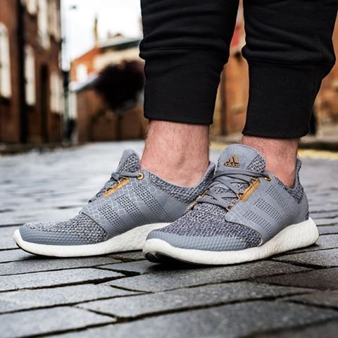 Adidas Mens Pure Boost Zg Trainer Training Shoe On Foot