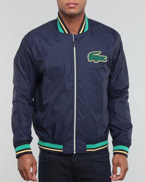 Lacoste Men L!ve Taffeta Bomber Jacket W/ Applique Croc - Outerwear