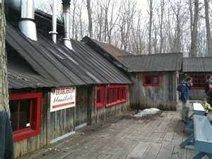 #I've been here-a fun place! Cabane a sucre - good quebec maple syrup