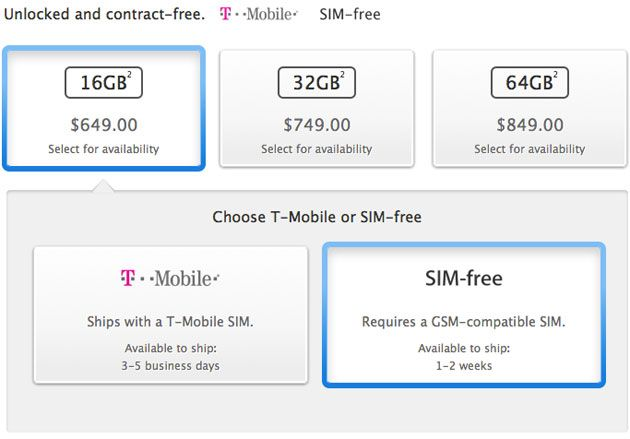 Unlocked and SIM-free iPhone 5s now available on Apple's site