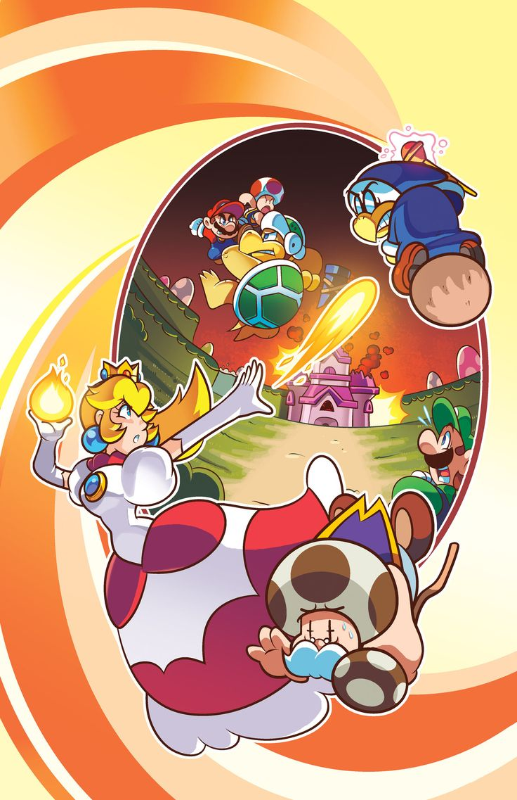Pics photos funny princess peach pictures - New Super Mario Bros Adventures 02 Cover By Herms85