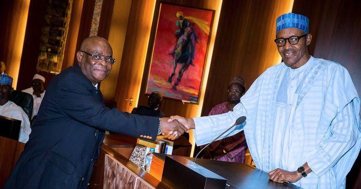President Buhari swears in acting CJN Hon. Justice Onnoghen