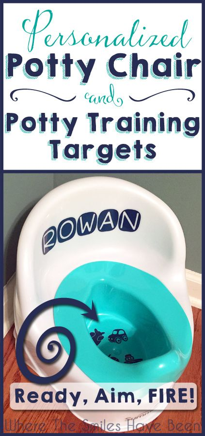 Personalized Potty Chair & Potty Training Targets: Ready, Aim, FIRE! | a Silhouette & vinyl project