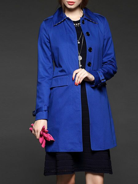 Paneled Cotton-blend Trench Coat