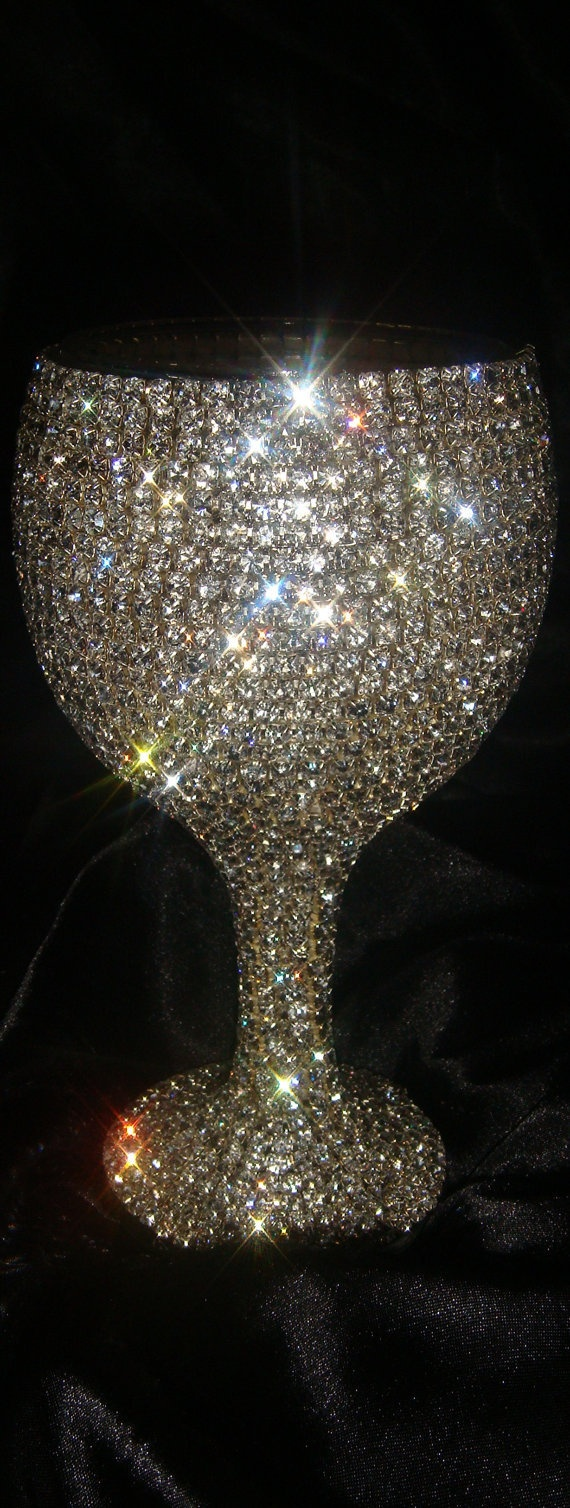 Cute for bride & groom! Custom designed handmade wine glass with Czech by Arzus on Etsy $55.00