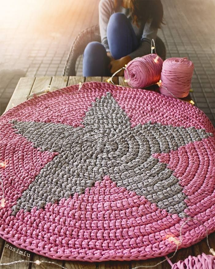 1000 images about alfombras de trapillo on pinterest trapillo crochet mat and fabric yarn - Alfombras ganchillo trapillo ...