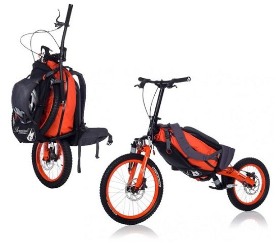 Beauty and the Mist - everything about beauty: Folding backpack bicycle