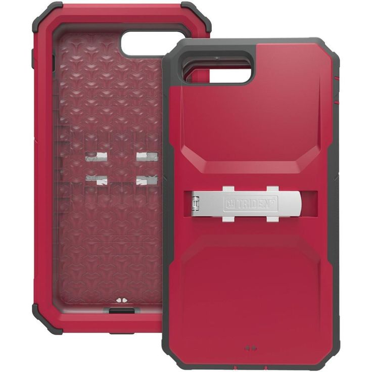 TRIDENT KN-APIP7P-RD000 iPhone(R) 7 Plus Kraken(R) A.M.S. Case with Holster (Red). Overmolded TPE & polycarbonate protects against impacts ;  10ft drop protection ;  Inner case operates with or without outer shell ;  Port covers protect device from dust & debris ;  Scratch-resistant, built-in screen protector ;  Features removable media stand to allow for more than 20 mounting solutions ;  Produced from recyclable, degradable & compostable bio-enhanced plastic ;  Meets military standard…