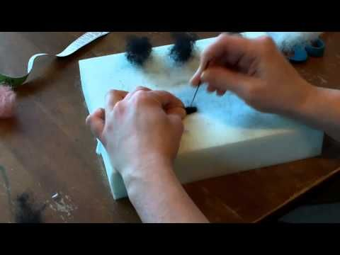 Needle Felted Sheep Part 1 - YouTube ( there are 4 parts to this tutorial, quite long but very clear instructions)