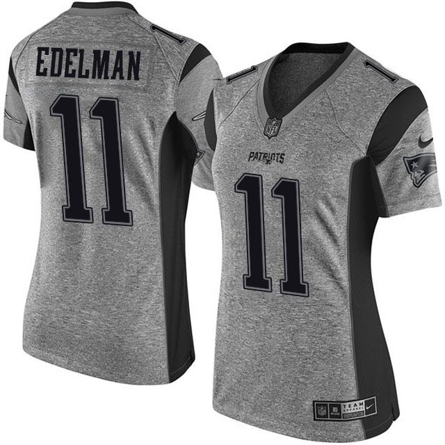 ... Nike Youth Color Rush Player Pride Name Number T- Womens New England  Patriots Julian Edelman Gridiron Gray Jersey NFL ... 01d1a89af