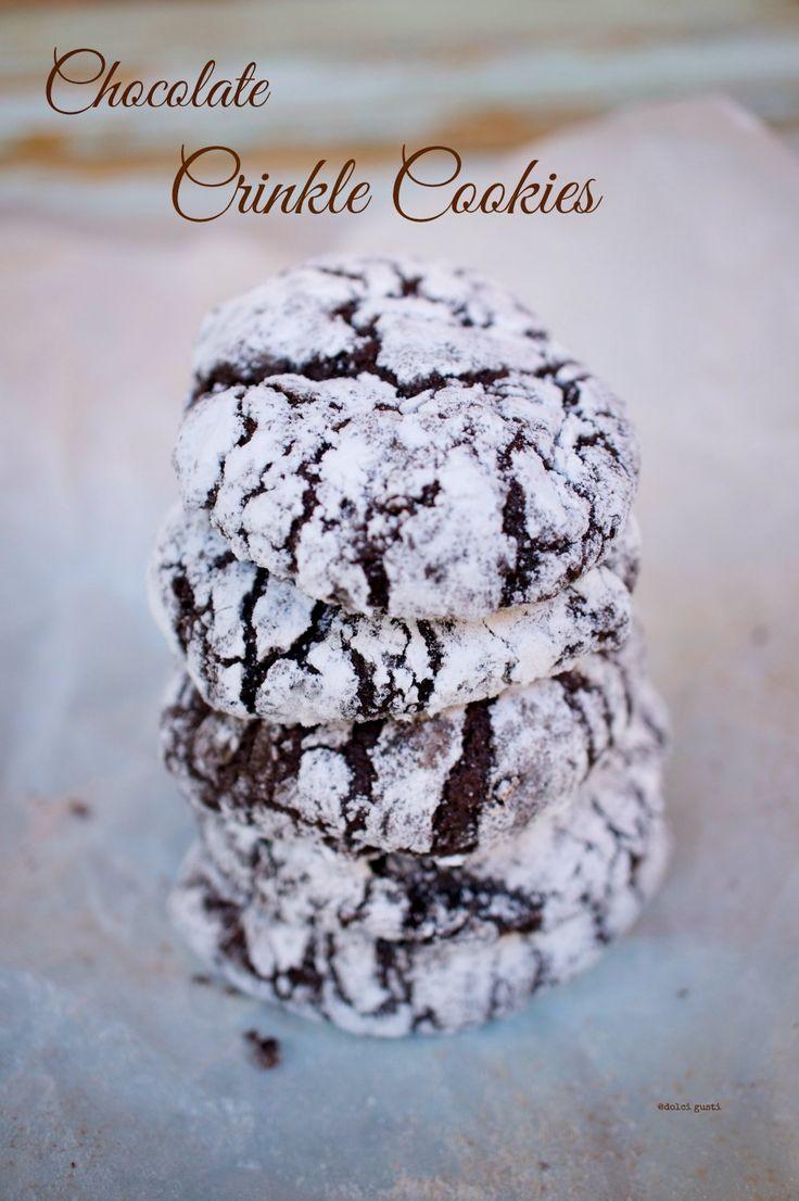 ricetta crinkle cookies