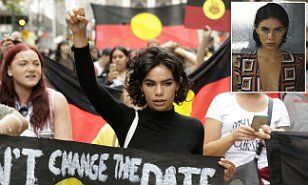 A retha Brown, a 16-year-old Coles deli worker studying Year 11 at high school became the face of the #changethedate Australia Day protests in Melbourne.