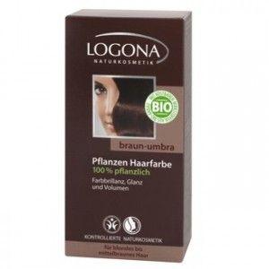 Henna - Hnědá umbra, 100 g, Logona Umbra je nejtmavší hnědá. Je spíše studená a nebarví dočervena....