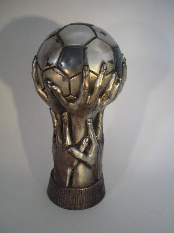 Vintage voetbal trofee voetbal cup sport door ProfessorVintage