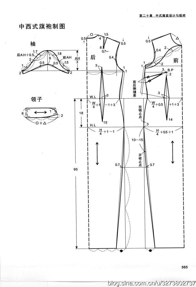 摘自 熊能《世界经典服装设计与纸样—女装篇》 you can see more on  http://blog.sina.com.cn/s/blog_68efe6c20101nkw6.html