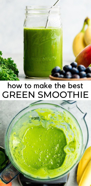 Wie man das beste grüne Smoothie-Rezept macht! Ein einfacher grüner Smoothie für Anfänger …   – smoothie recipes ideas