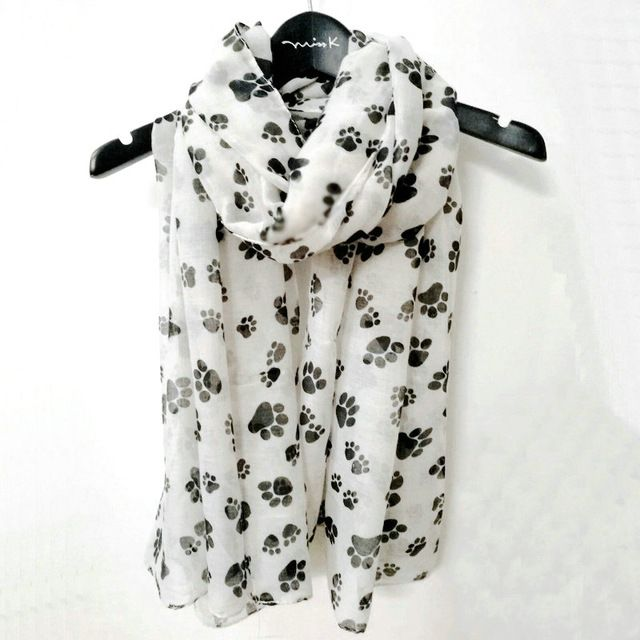 Afghan scarf dog print scarves printed dogs ladies fashion womens shawl gifts