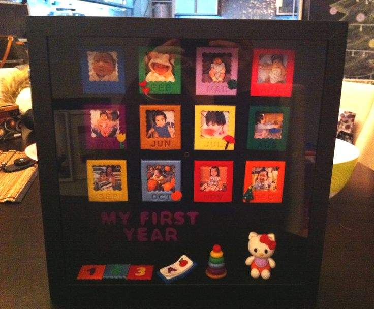 """My First Year"" Shadowbox"