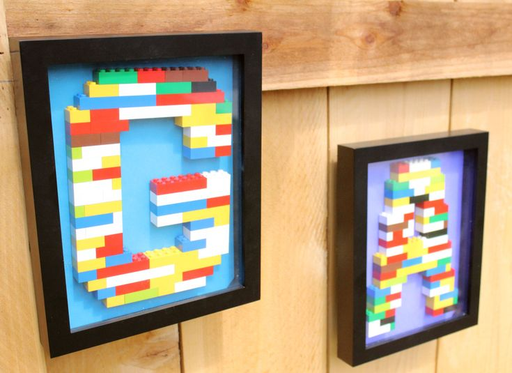 Monogram+Lego+Wall+Art+by+BitterStore+on+Etsy,+$50.00