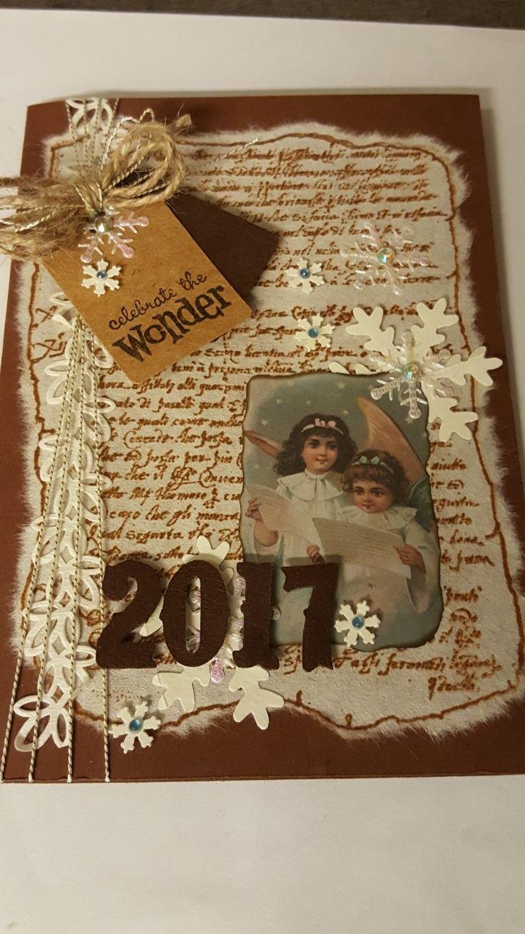 "Julekort 2017. ""Celebrate the wonder"""
